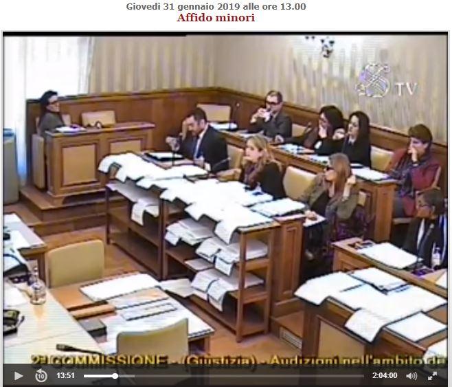 l 39 audizione della presidente alla commissione giustizia